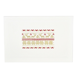 Gold/Red Christmas Sampler Card