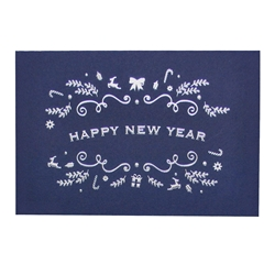 Happy New Year Embossed Cards