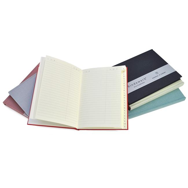bindewerk linen address books r bwad021
