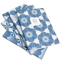 Mitsuko Indigo Recycled Paper Notebooks
