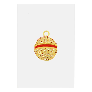 Gold & Red Filigree Ornament Card