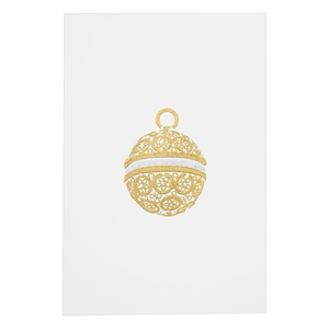 Gold & Silver Filigree Ornament Card