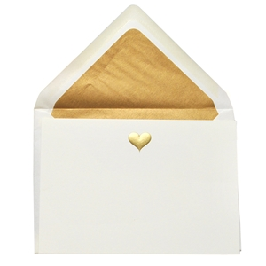 Gold Engraved & Embossed Flat Note Cards
