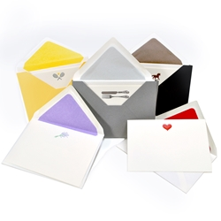 "Engraved Note Card ""Pochette"" Sets"