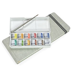 Panoramic Linen Watercolor Journal Travelogue, linen, watercolor, journals, panorama