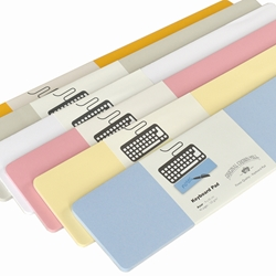 Color Vellum Keyboard Notepad