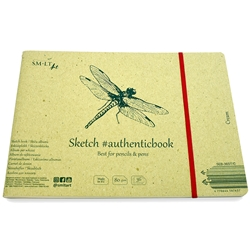 Stitched Cream Sketch Paper Album