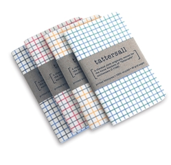 Tattersall Double Journal Set tattersall, journal, book, letterpress, recycled